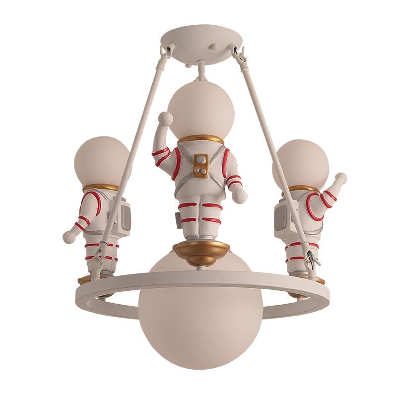 Amerikanischen Dekoration Kinder Decke Licht Glas Leuchte Cosmonaut Spaceman Astronaut Kreative Decken Lampe LED Baby Schlafzimmer Schule