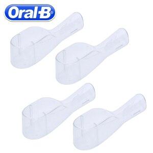 Image 3 - أورال ب شفاف الكهربائية رؤوس لفرشاة الأسنان الغطاء الواقي إزالة غطاء غبار السفر فرشاة الأسنان غطاء نظيفة (فقط غطاء فرشاة)