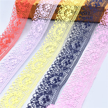 10 Yards/Lot High Quality Beautiful Lace Ribbon Tape 40MM Trim DIY Embroidered For Sewing Decoration african lace fabric