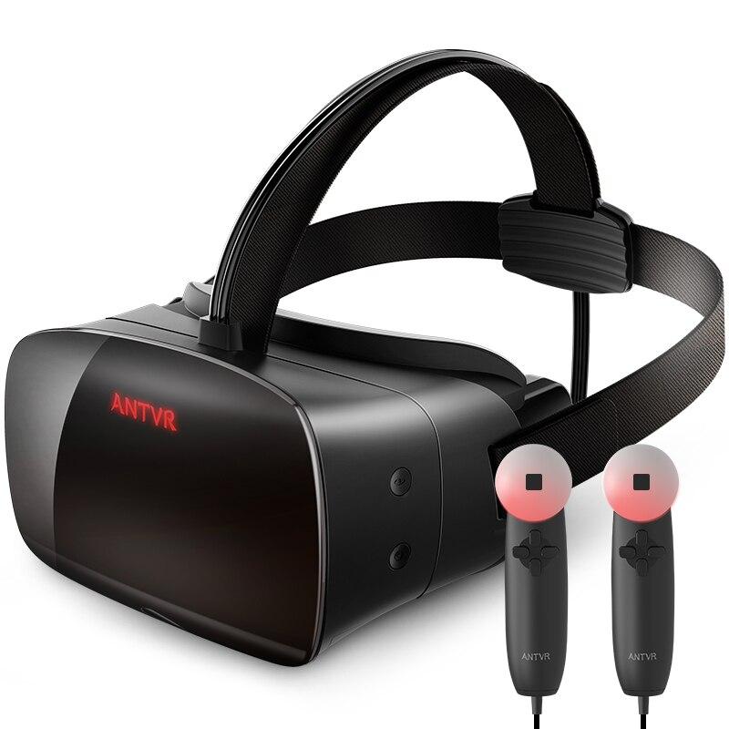 Antvr 2 t vr óculos com controlador 3d realidade virtual fone de ouvido para vapor jogos de computador capacete estéreo concorrente htc vive oculus