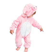 Rompers Infant Pijamas Cosplay Cute Pig Newborn Sleepwear Clothes Boys Girls Jumpsuit Hooded Anime Pyjamas Baby Toddler Costumes mikistory fashion baby lion costumes long sleeves infant cosplay clothes cotton cute cartoon rompers hooded boys girls jumpsuits