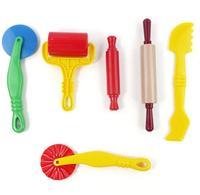 6 יח'\סט פלסטלינה playdough צעצועי כלים mould סט handgum דוגמנות אינטליגנטית פימו חימר פולימרי חימר פולימרי עובש צעצועי ילדים