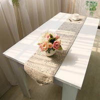table runner table flag bed seats garden europe letters table cover towel cotton linen home hotel restaurant deal free shipping