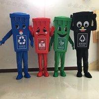 Зеленая переработка мусорный бак талисман костюм Взрослый размер мусорное ведро Аниме Костюмы Реклама маскарадный костюм, костюмированны