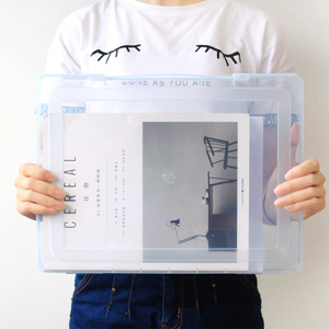 Image 2 - Полипропиленовая пластиковая прозрачная коробка для документов, Офисная бумажная коробка для документов, водонепроницаемый чехол для документов