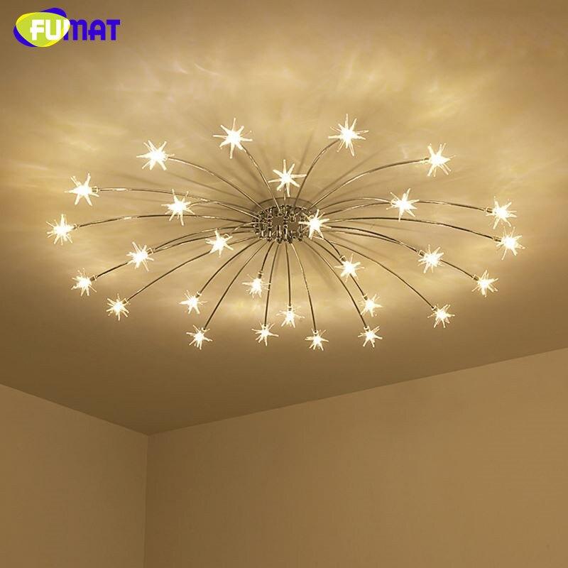 FUMAT Moderne Ronde G4 LED Cristal En Verre Étoiles Plafonniers Salon Plafond Lampes Chambre Crsytal Étoilé Ciel Luminaires