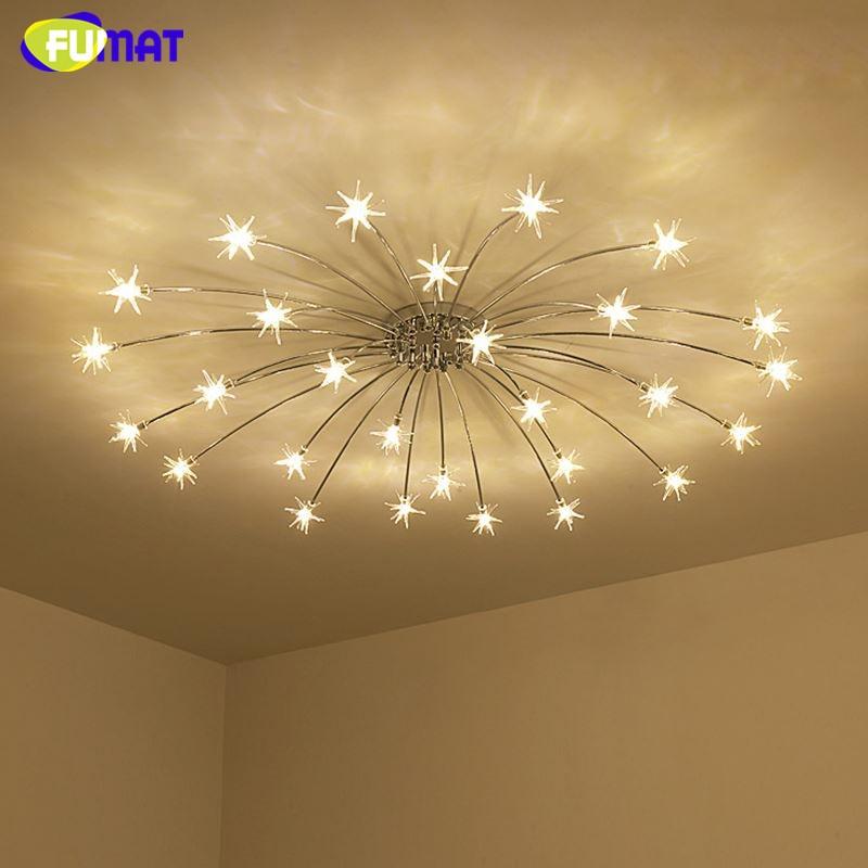 US $160.0 20% OFF|FUMAT Moderne Runde G4 LED Kristall Glas Sterne Decke  Lichter Wohnzimmer Decke Lampen Schlafzimmer Crsytal Starry Sky Leuchten-in  ...
