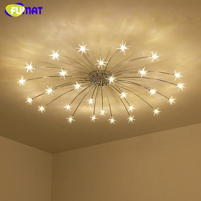 FUMAT Moderne Runde G4 LED Kristall Glas Sterne Deckenleuchten Wohnzimmer Deckenleuchten  Schlafzimmer Crsytal Sternenhimmel Leuchten
