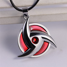 Naruto Pattern Red/Silver Color Unisex Necklace