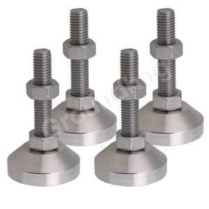 Image 1 - 4pcs Adjustable Feet Thread Dia M12x50mm Fixed Universal Leveling Stainless Steel feet foot for Machine Furniture 1.5 ton load
