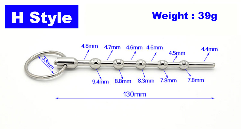 10 Style Electric Shock Stainless Steel Plug Urethral Penis Sounding Sex Toys For Men Erotic Toys Masturbation Products 15