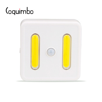 Coquimbo Bright COB LED Lamp With Motion Sensor Switch Battery Operated PIR Sensor LED Light With 3M Hanging Hole Night Light