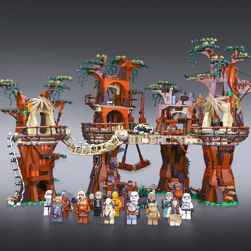 IN VOORRAAD DHL 05047 Ster Compatibel Met Nieuwe 10236 Ewok Village Wars Set Bouwsteen Bakstenen Kinderen Speelgoed Kerstcadeaus-in Blokken van Speelgoed & Hobbies op  Groep 3