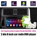 Apoiar traseira da câmera Do Carro DVD player de rádio GPS controle da roda de direcção para T/oyota La nd/cr/uiser Pra/fazer 150 2010-2013