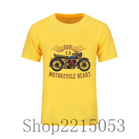 T Shirt USA Motorcycle Harley Eagle Indian Vintage Men Tops Clothes Short Sleeve Heavy Metals Tee