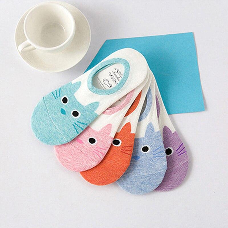 Nette Harajuku Socken Frauen Sommer Tier Lustige Schöne Söckchen Candy Farbe Atmungs Boot Socke Drop Verschiffen E0016
