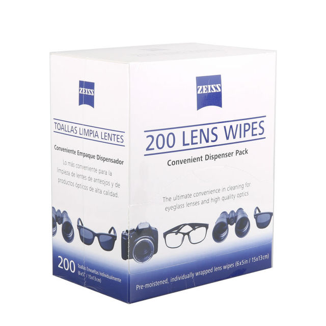 14d946efc940f Pré-umedecido Lente Zeiss Toalhetes de Limpeza para Lentes de Óculos Óculos  de Sol Óculos