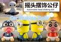 Estilo de coche Robot Juguete Del Coche Sacudiendo La Cabeza Ornamento Decoración En Caja de PVC Figura de Acción de Juguete Baymax Minions Crayon Shin-chan envío Gratis