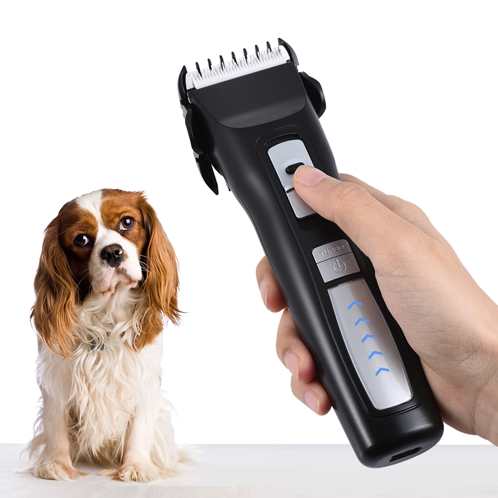 Lightweight Pet Dog Grooming Clipper Rechargeable Dog Electric Hair Clippers Trimmers Animal Hair Clipper for Thick Coats Cat