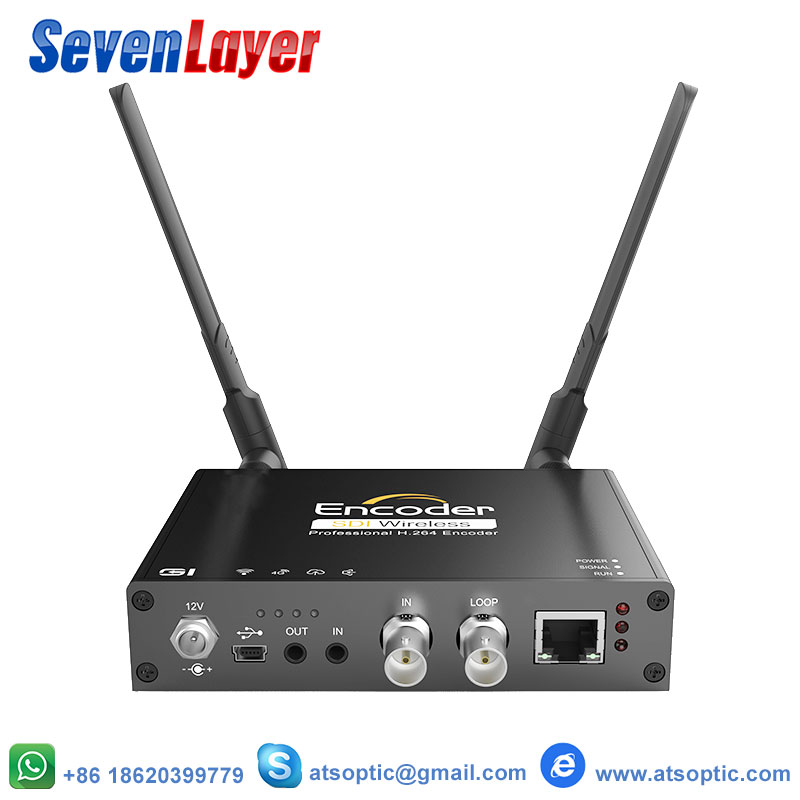 SDI to IP Video Encoder for Live Broadcast, with 4G/WifiSDI to IP Video Encoder for Live Broadcast, with 4G/Wifi