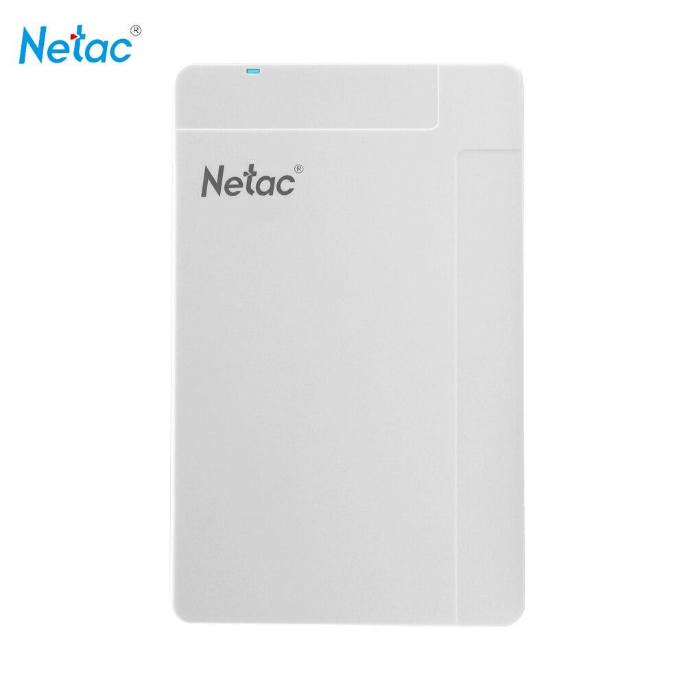 Netac K218 White 1TB USB 3.0 2.5 Portable HDD Mobile External Hard Disk Drive disque dur externe hd externo for Desktop Laptop ruru15070 to 218