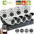 CNHIDEE 1080N 8CH AHD DVR kit CCTV Câmera de Segurança Em Casa sistema 720 P 8 PCS Kit sistemas de Vigilância 1200TVL 1.0 mp seguridad