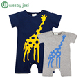 Baby romper jumpsuit Cartoon giraffe baby animal costume new born baby girl clothes hooded suit infantil newborn clothing unisex