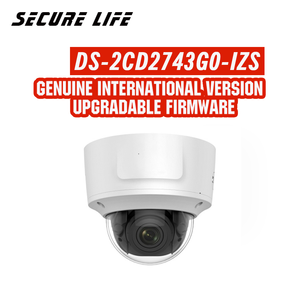 все цены на Hikvision DS-2CD2743G0-IZS English version 4MP IR VF dome Network IP CCTV Camera POE 30m IR morterized zoom 2.8-12mm H.265+ IK10 онлайн