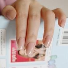 Искусственный овальные искусственные ногти прозрачный Пластик мягкие розовые искуственные ногти конфеты короткие Типсы для ногтей 24 шт./компл. P01Q
