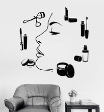 Vinyl wall decal makeup artist beauty salon studio mannequin sticker window reference decoration 2MY5