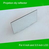 1 Piece 114 57 5 2mm Mini Projector Diy Reflector Projector Mirror Accessory For 4 Inch