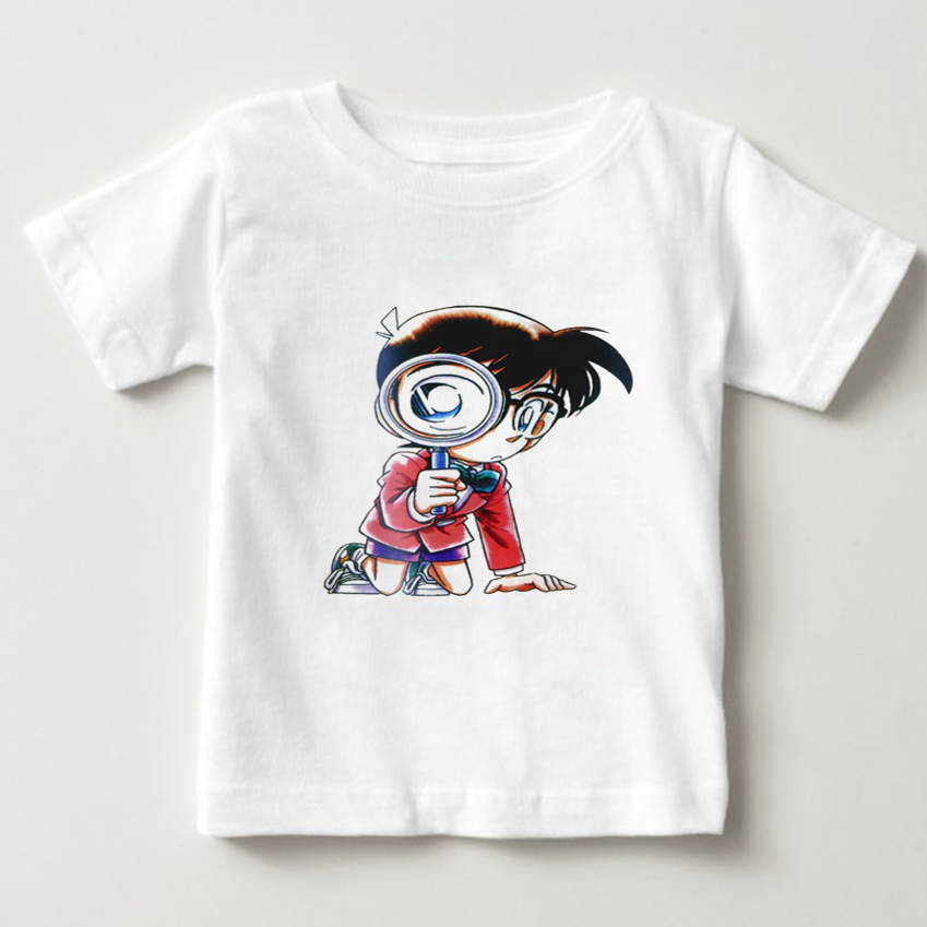 Detective Conan cartoon T shirt digital printed hot anime Conan t shirt Kids short-sleeve T-shirt boy/girl O-Neck tshirt NN