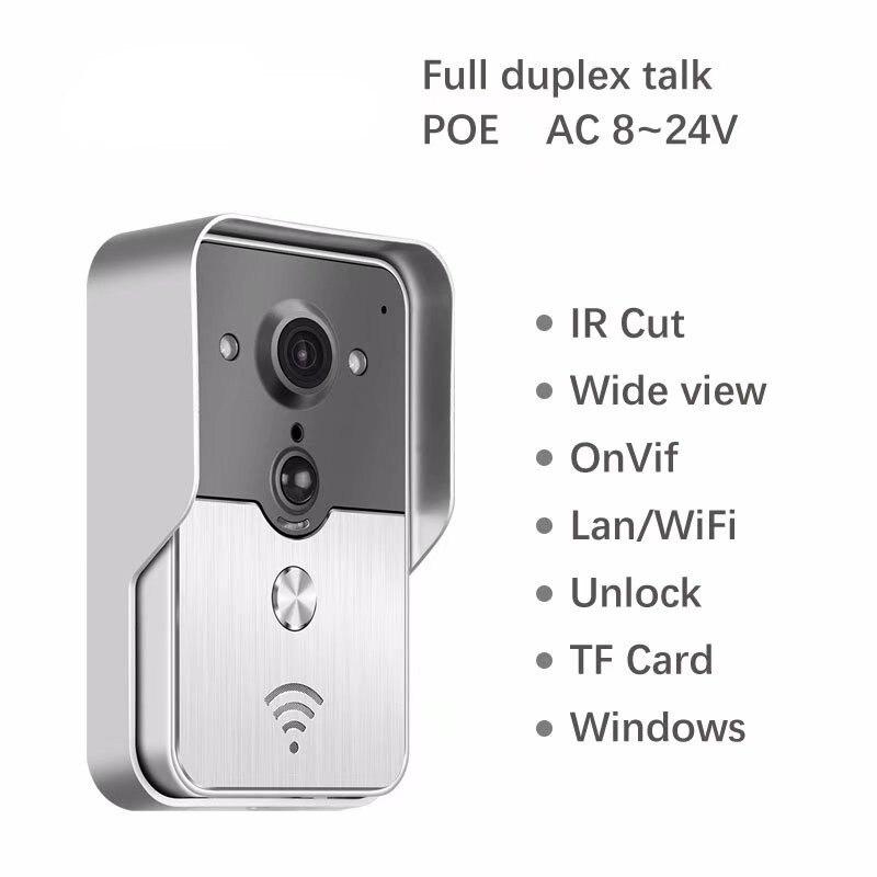 цена New Version POE Support TF Card Storage 720P WIFI Video Door Phone Intercom Doorbell