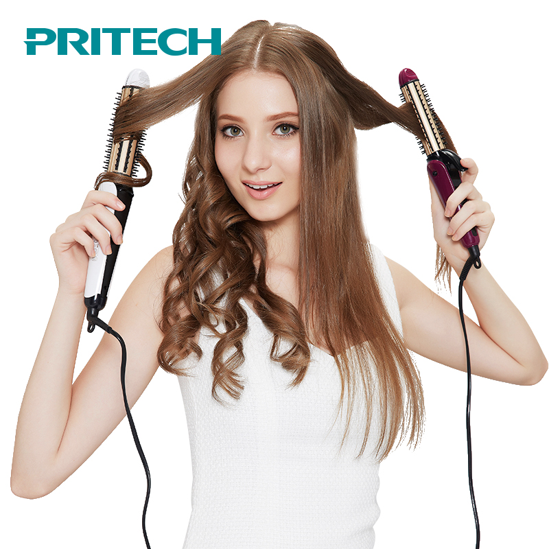 Pritech 3 In 1 Electric Hair Curler Straightener For Big Small Waves Portable Hair Straightener Curling Iron Combs Styling Tool ночная сорочка 2 штуки quelle quelle 966812