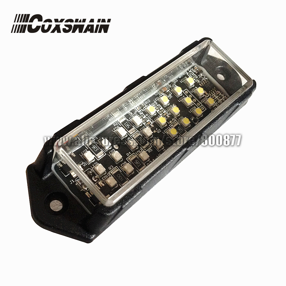 VS 958 Car external warning lights LED grill surface mount lighthead DC12V 21 flash pattern 24