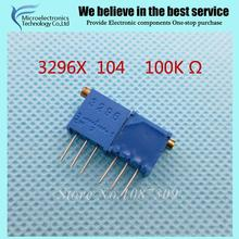 100 шт./лот 3296x-1-104lf 3296×104 100 k ом сторона регулировка многооборотный триммер потенциометр высокоточный переменный резистор