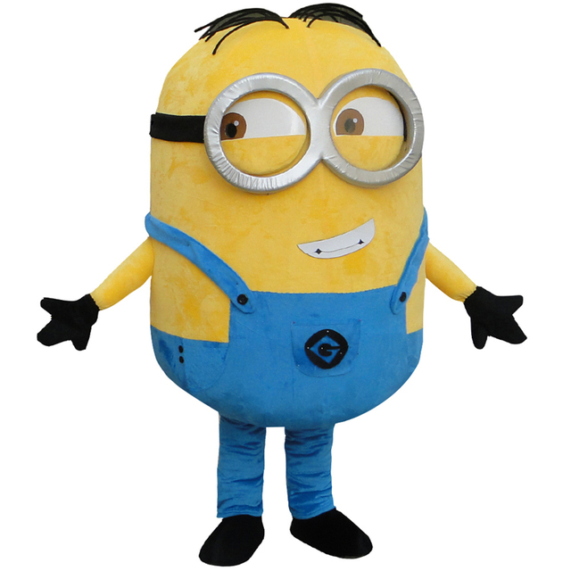 cosplay costumes  Minion Mascot costume For Adults  Mascot costume Free shipping
