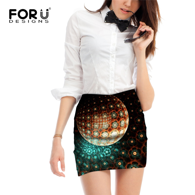 FORUDESIGNS 2018 Women Sexy Skirt 39 s Pencil for Summer High Waist Skirt Retro Style Vortex Floral Skirt 39 s tutu Vogue Femme Jupe in Skirts from Women 39 s Clothing