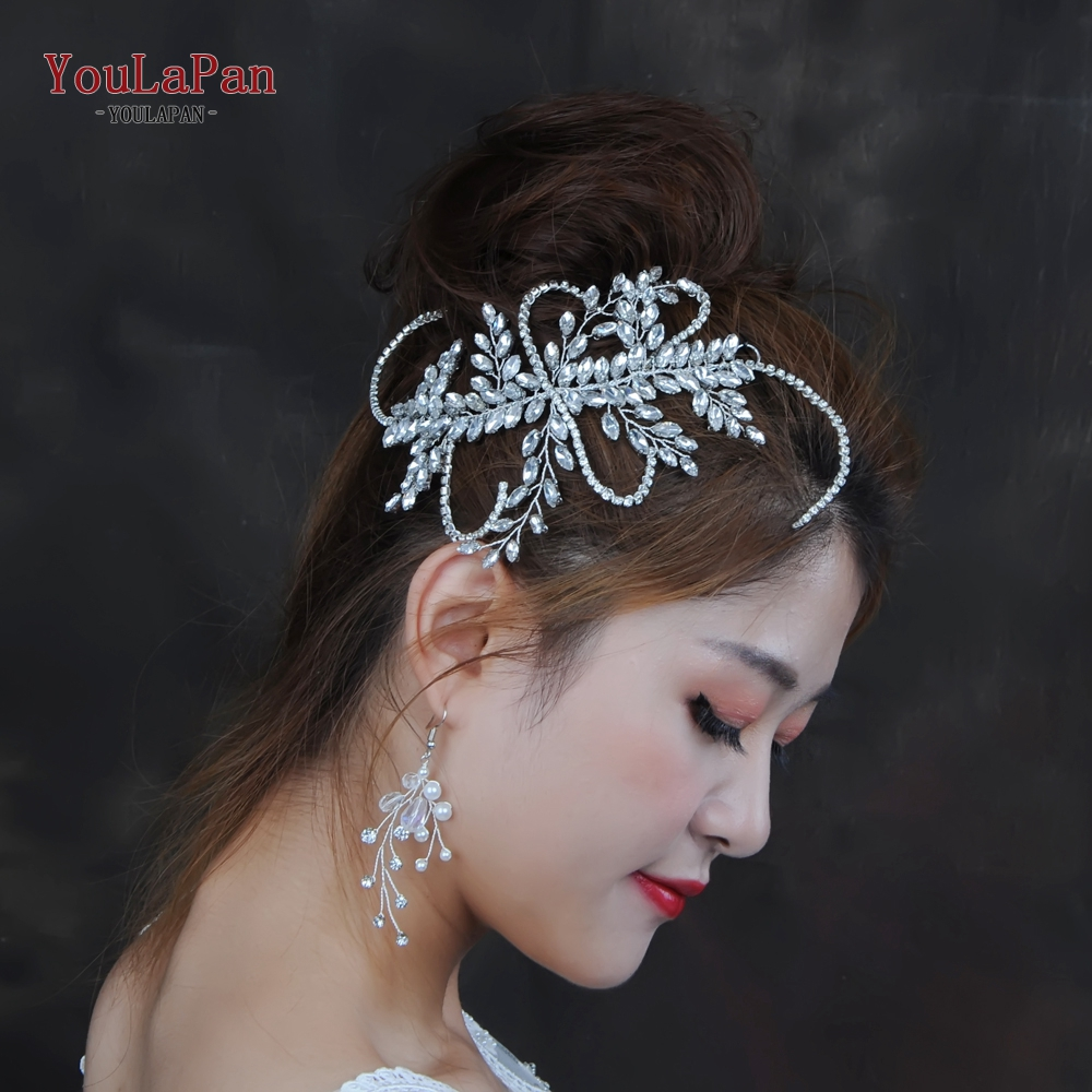YouLaPan HP175 wedding hair accessories Handmade Rhinestones Tiaras And Crowns Wedding Headband Headpiece Bridal hair ornaments in Hair Jewelry from Jewelry Accessories