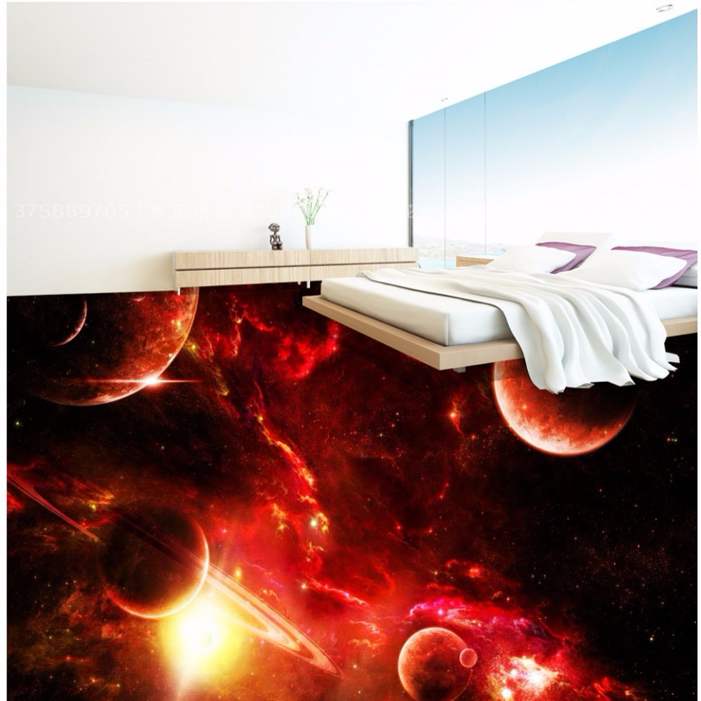 цена Free Shipping 3D stereo custom cool universe Star floor tile wallpaper mural water-proof wear non-slip flooring painting онлайн в 2017 году