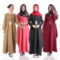 2016 de la moda de ropa abaya musulmán de la muchacha vestido largo las mujeres turcas burka más tamaño dubai árabe chilaba vestido bordado