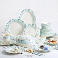 60 шт. из костяного фарфора посуда, обеденный чаши, тарелки, бытовой сочетание костюмы,. высокая термостойкость корейский стиль