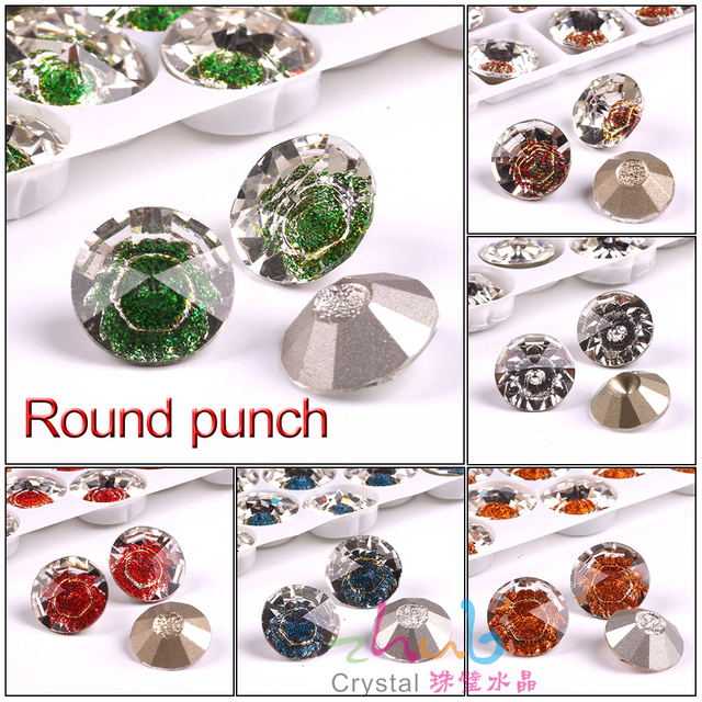 Glass Round Rhinestones With Hole 12 14 16mm Sewing Clear Loose Crystals  Faceted Flatback Stone For Diy Making Costume jewelery 3b29f6963f5d