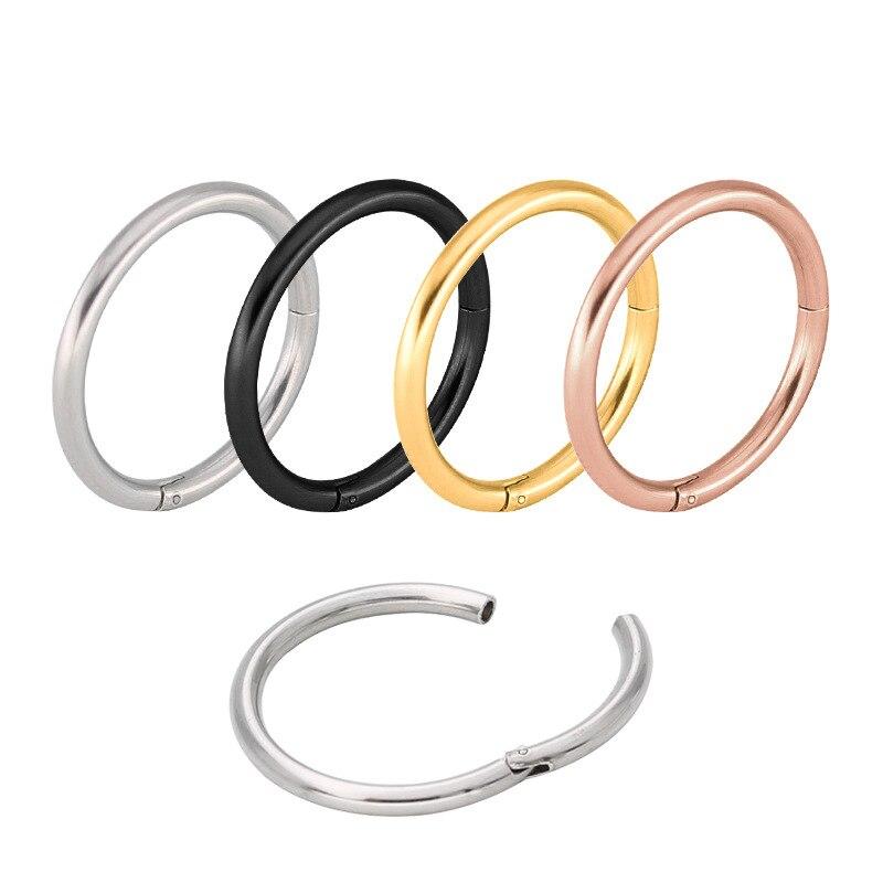 ส่วนจมูกห่วงแหวนกะบังC Lickerจมูกเจาะหัวเข็มขัดรอบต่างหูเครื่องประดับใหม่สแตนเลสอินเตอร์เฟซหู14กรัม16กรัม-ใน เครื่องประดับร่างกาย จาก อัญมณีและเครื่องประดับ บน   1