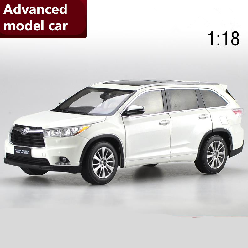 1:18 scale advanced TOYOTA HIGHLAND alloy car toy,diecast metal model toy vehicle,high quality collection model free shipping scale new 1 18 citroen c quatre 2012 hatchback alloy diecast model car toy gift collection with original box free shipping