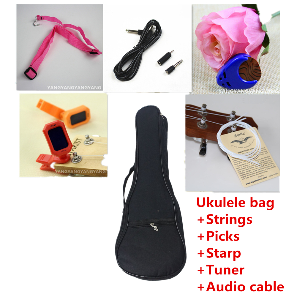 Soprano Concert Tenor Ukulele Bag Case Backpack 21 23 26 Inch Package Ukelele Pick  Strings starp Tuner Audio Cable Guitar Parts video recording evaluation made in japan 21 23 26 fluorocabon ukulele strings guitar soprano concert tenor parts accessories