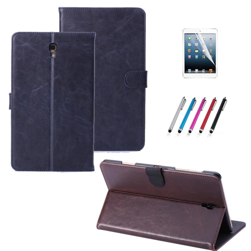New Luxury for Samsung Galaxy Tab S 8.4 T700 T705 Book Cover Smart Flip Leather Case Stand Cover for Samsung Galaxy Tab S T700 luxury folding flip smart pu leather case book cover for samsung galaxy tab s 8 4 t700 t705 sleep wake function screen film pen