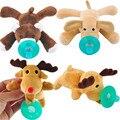 Lindo Caliente de la venta Nuevo 1 Unid Cuddly Plush Animal Bebé Infantil Del Muchacho Del Bebé Chupetes de Silicona Pezones Lindo