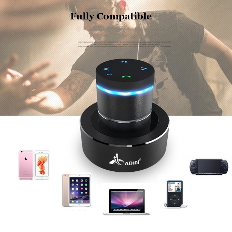 ADIN Metal 26W Vibration Bluetooth Speaker With NFC Touch HIFI Subwoofer And 360 Stereo Super Bass 12