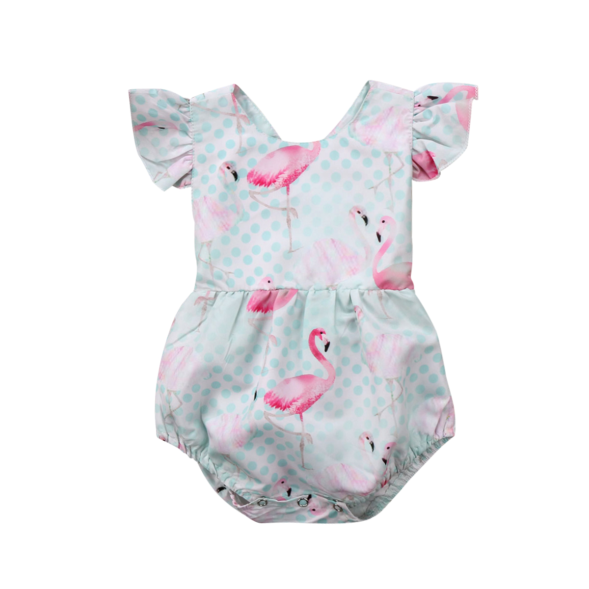 Newborn Infant Kids Baby Girls   Romper   Flamingo Baby   Rompers   Jumpsuit Clothes Outfits